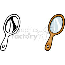 hand held mirror clipart. royalty-free hand held mirror 146290 vector clip art image - eps illustration | graphicsfactory.com clipart a