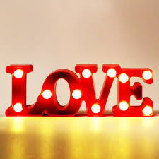 Lumiparty Marquee Letter Lights Led Word Table Lamp Love Alphabet