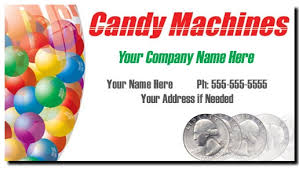 Vending Machine Company Names Interesting Candy Vending Business Cards Full Color Bulk Candy Business Cards