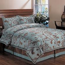 comforter sets teal king size comforter set bedding using brown and blue fl pattern and