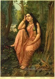 damayanthi vanvas raja ravi varma indians painting