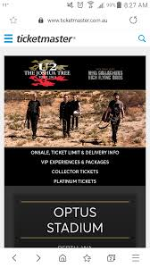 The collector ticket is a how do collector tickets work? They Took Down The Page On Ticketmaster Australia But This Is A Screen Shot Now All But Officially Confirmed The Joshua Tree Tour In 2019 U2band