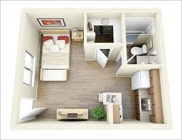 Awesome One Bedroom Apt Images Amazing Design Ideas Siteous - Rental apartment one bedroom apartment open floor plans