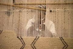 Tappeto Tessuto A Mano : Modello del tappeto tessuto mano foto stock