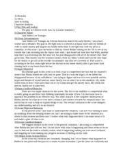 Scene Two Acting Charcater Analysis   Al Berkeley          Intro