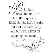 Wandtattoo Life Is Short Break The Rules Spruch Zitat Englisch