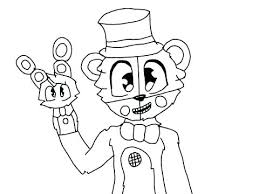 Fnaf Golden Freddy Coloring Pages And Bonbon Coloring Sheet Pages