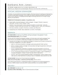 Job Resume Examples For College Students New Social Media Resume