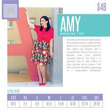 Lularoe Amy Shirt Sizing Chart Spring 2018 In 2019 Lula