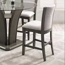 gray counter height chairs.  Counter Crown Mark Camelia Grey Counter Height Stool With Upholstered Seat With Gray Chairs C