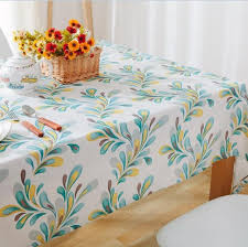 colour feather table cloth decorative coffee table cover cotton linen dustproof tablecloth for kitchen dinning living