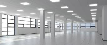 lighting in an office. healthy lighting can led improve the work environment and efficiency in office an