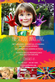 Play School Flex Board Design Preschool Enrollment Colorful Poster Flyer Template