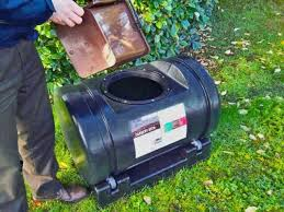 compost bin rotate rotating 200l composter will break down waste quicker rotating compost bin diy homemade