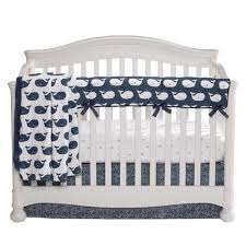 whale tails perless crib bedding