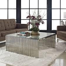 terrific metallic coffee table at modern tables