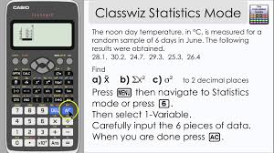 casio classwiz statistics mode mean variance other  casio classwiz statistics mode mean variance other information 991ex 570ex