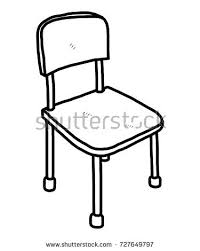 school chair drawing. Exellent Chair Chair  Cartoon Vector And Illustration Black White Hand Drawn  Sketch Style With School Chair Drawing A