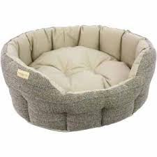 Image for Earthbound Traditional Tweed and Waterproof Dog Bed Beige (Web  Exclusive) from Pets