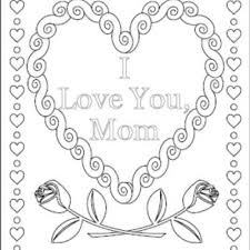 Coloring Pages Love U Mom Printable Coloring Page For Kids