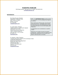 Sample Professional References Page Professional Reference Template Accurate Page Format Job