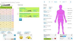 Food And Exercise Trackers Buy Food Exercise Body Tracker Microsoft Store