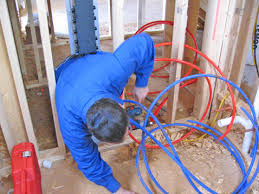 pull pex lines up from crawl space