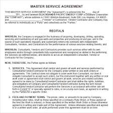 Sample Service Agreements Inspiration 44 Sample Master Service Agreements Sample Templates