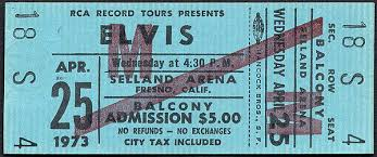 Selland Arena Fresno Ca Seating Chart Elvis At Selland Arena Fresno 1973 A Whopping 5 00