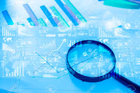 76787870 Photo And Picture Free With Documents Stock Image Royalty Analytics selective Image Glass On Table Magnifying Data Lying
