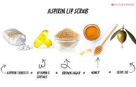 homemade lip scrub aspirin lip scrub