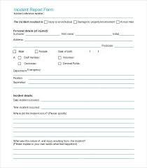 School Incident Report Form Template Free Sheet Hazard Qld Guest