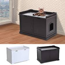 Image Washroom Bench Cathiddenlitterboxenclosurebenchhallend Ebay Cat Hidden Litter Box Enclosure Bench Hall End Table Pet Kitty