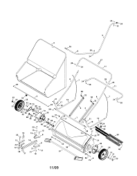 Craftsman model 48624229 lawn sweeper genuine parts steel wool diagram lawn sweeper diagram