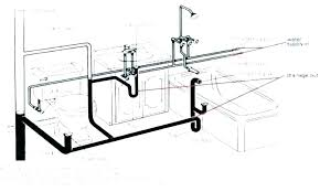 bathroom plumbing vent diagram pipe venting most breathtaking kitchen sink drain air for vented waste size