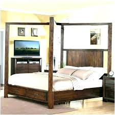 Black Wood Canopy Bed Extremeconceptsorg Wooden Canopy Bed Wood ...