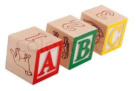 wooden block letters