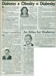 diabetes obesity diabesity dr mohan s diabetes specialities diabetes the news today sunday 11 2012
