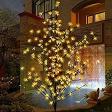 outdoor blossom tree led lights. lighted christmas tree, ucharge cherry blossom led tree light 208leds 6ft garden floral lights outdoor h