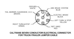 electrical 17 mobile radio caltrans seven conductor electrical connector for truck trailer jumper cable