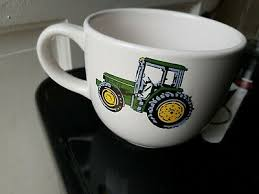 Licensed john deere coffee mug cup gibson moline illinois deer green yellow. Agriculture John Deere Large 28oz Coffee Mug Soup Chili Mug By Gibson Logo Latte Giant Cup Collectibles Blakpuzzle Com