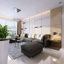 lighting for apartments. Apartments:Classy Apartment Living Room Design With White Ceiling Lighting And Dark Grey Leather Sofa For Apartments