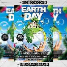 Earth Day Celebration Premium A5 Flyer Template