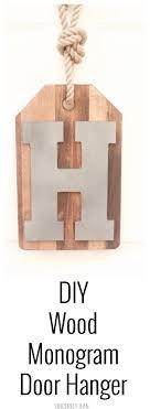 DIY Wood Monogram Door Hanger - Sincerely Jean