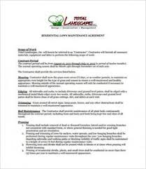 Best Landscaping Contract Agreement Samples And Landscape Contract