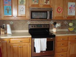 Ceramic Kitchen Backsplash Backsplashes Wooden Cabinet Delightful Kitchen Using Fantastic
