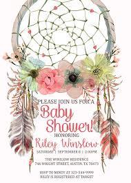Dream Catcher Baby Shower Invitations Bohemian Baby Shower Invitations dhavalthakurCom 52