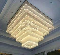 m k lighting banquet hall crystal chandelier shape square
