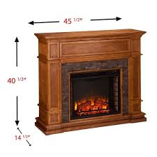 southern enterprises belleview electric media fireplace in sienna