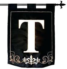 monogram outdoor flags home house letter t triple double applique flag